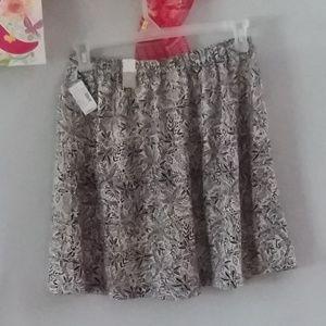 Black & Cream Print Maurices Skirt NWT